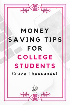 Money Saving Tips for College Students - Paying for college shouldn't stress you out. Here are some ways to save money and financial tips for college students so that you can still get a good education without breaking the bank. Click through to read the tips! Some you probably haven't thought of.