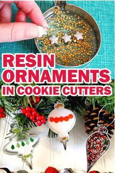Christmas Crafts For Kids, Diy Christmas Ornaments, Decor Crafts, Holiday Crafts, Fun Crafts, Diy Resin Projects, Diy Resin Art, Diy Resin Crafts, Diy Resin Ornaments