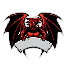 Illustration about Vector of dragon mascot hold the blank sign for text space. Illustration of horrible, evil, dragon - 143573066 Logo D'art, Logo Free, Logo Dragon, Blank Sign, Team Logo Design, Esports Logo, Professional Logo Design, How To Make Logo, Retro Logos