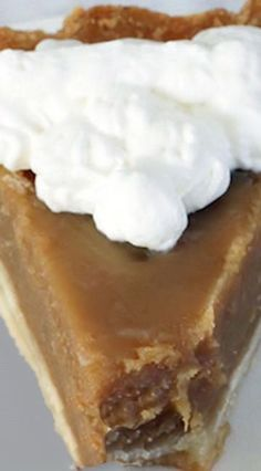 OMG! An amazing Butterscotch Pie If you like Carmel roles, this is the perfect rendition in pie form.
