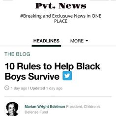 ESSENTIAL RULES 4 YOUNG BLACK? @WalterMadison http://ift.tt/1CeNjph #PvtNews