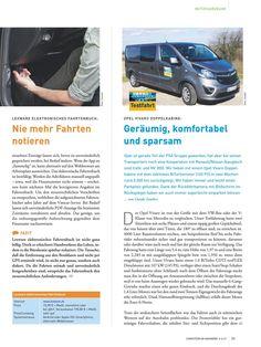 Seite 1: Opel Vivaro Testfahrt-Bericht in Computern im Handwerk 4-5/2017 mit cleverer Bildschirmlösung für Rückfahrkamera !