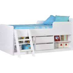 The Contemporary Felix Low Sleeper Bed's generous storage space offers the perfect place to store books, toys and much more. Ideal for children.
