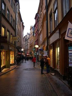 The Old Town - Stockholm (Loved walking through the cobblestone streets at night.)