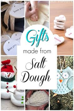 Homemade gifts for kids to make using salt dough! Salt dough is the best! There are so many things to make with salt dough. Here is an incredible list of ideas for creating projects with kids! Preschool Arts And Crafts, Creative Activities For Kids, Crafts For Kids To Make, Diy Crafts To Sell, Learning Activities, Diy Gifts For Kids, Fun Gifts, Homemade Christmas Gifts, Christmas Gifts For Kids