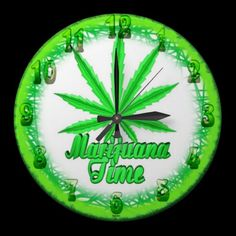 Marijuana Time clock by Valxart.com  See more abstract, surreal art iphone at http://zazzle.com/valxartmedicalpot*