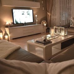magnifique soirée 😍😍😍 shared by Niia_beauty on We Heart It – About Home Decor Living Room Decor Cozy, Living Room Goals, Home Living Room, Apartment Living, Living Room Designs, Bedroom Decor, Living Room Inspiration, House Rooms, Interior Design