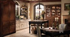 French Country Kitchen Design Layout - Provence from Wood-Mode - Small