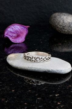 Celtic ring silver celtic ring for women celtic knot by Elfscraft Celtic Infinity Knot, Infinity Knot Ring, Celtic Knot, Silver Celtic Rings, Celtic Braid, Trinity Ring, Celtic Symbols, Gemstone Rings, Wiccan