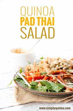 Easy Pad Thai Salad with Quinoa - via simplyquinoa.com