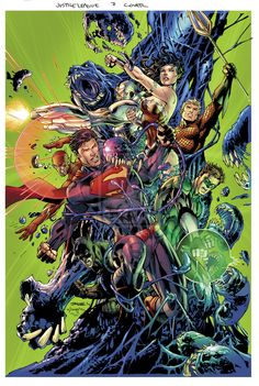 Justice League No.7 Cover by Jim Lee, Scott Williams and Alex Sinclair