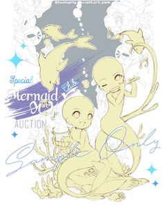 [CLOSED TYYY] Mermaid couple YCH _special edition by Skunkyfly