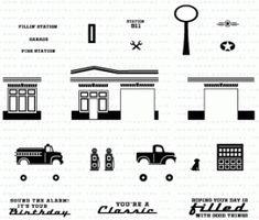 Petite Places: City Station Mini Stamp Set