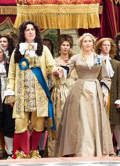 Alan Rickman & Kate Winslet in 'A Little Chaos' (2014) Costume Design by  Joan Bergin.