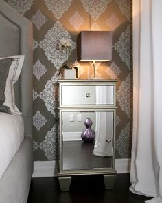 Home Decor - Bedroom Decorating Vintage Glam, Great Wall Covering