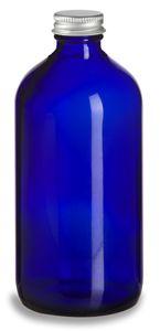 1 oz Cobalt Blue Boston Round Glass Bottle with Black Cap Blue Glass Bottles, Blue Bottle, Oil Bottle, Cobalt Glass, Boston, Homemade Vanilla Extract, Oils For Men, Apothecary Bottles, Mason Jars