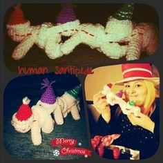 Crochet human centipede santipede secret santa gift. Made by ME