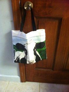 "reusable bag made from cloth calendar ""moms swap"""