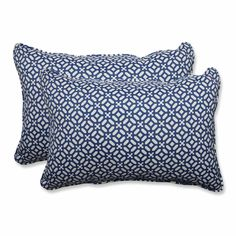 In The Frame Sapphire Over-sized Rectangular Throw Pillow (Set of 2)