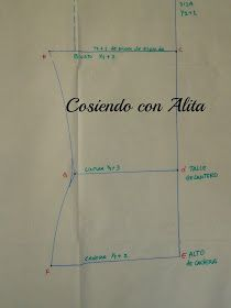 Cosiendo con Alita: BASE DE BLUSA DELANTERA. Pattern Cutting, Pattern Making, Dress Patterns, Sewing Patterns, Bodice Pattern, Sewing Lessons, Fashion Sewing, Diy Clothes, Paper Flowers