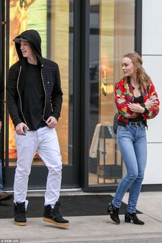 Looking good:Stymest, the teenager's model-boyfriend, hails from England and has graced s... Lily Rose Depp Height, Lily Rose Depp Style, Lily Rose Melody Depp, Vanessa Paradis, Johnny Depp, Ash Stymest, Chanel Store, Model Street Style, Teen Models