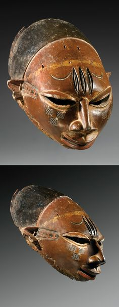 Africa | Mask 'Efe-Gelede' mask from the Yoruba / Anago people of Benin | Wood