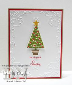 Unfrogettable Stamping | Week 6 Q&E Festival of Trees Christmas card  http://unfrogettablestamping.typepad.com/my_weblog/2014/11/week-6-of-my-twelve-weeks-of-quick-easy-christmas-card-ideas.html