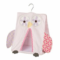 Pink Owl Diaper Stacker by Lolli Living, Crib Bedding Accessories, Bedding for Girls