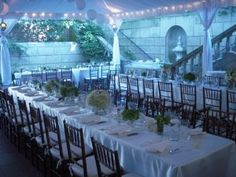 Wedding reception on the lower courtyard of Dumbarton House.