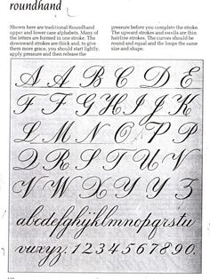 calligraphy, art and design: The English Copperplate and Palmer. streetwear s . Script Alphabet, Calligraphy Fonts Alphabet, Copperplate Calligraphy, Hand Lettering Alphabet, Alphabet A, Script Lettering, Lettering Styles, Handwriting Styles, Calligraphy Handwriting