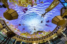 Das Schloss shopping centre has received an AV upgrade, with the world's largest projection ceiling immersing shoppers in the heart of Berlin Projection Mapping, Shopping Center, In The Heart, Worlds Largest, Berlin, Fair Grounds, Centre, Shopping Mall, Berlin Germany