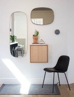 An inside view to Muuto headquarters. frame mirror, stacked with door, fiber chair; dots, entrance inspration– Crioll Designshop