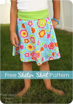 Free Skater Skirt Pattern for Girls