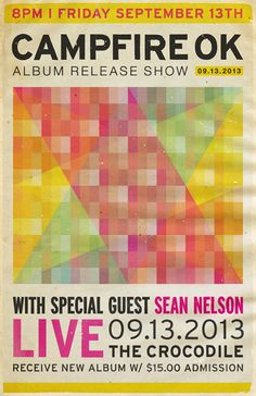 album release show poster LIVE at for Young Moderns Album Releases, Special Guest, Graphic Design, Modern, Seattle, Posters, Inspiration, Live, Biblical Inspiration