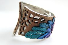 premo! Earth and Feather Bracelet - full instructions from Sculpey.  ~ Polymer Clay Tutorial