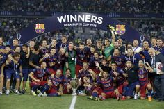 Barcelona 5 Sevilla 4 after extra time!  Congratulations to @FCBarcelona on winning the #UEFASuperCup 2015!