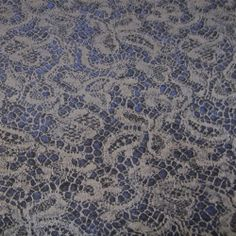 Just in: Spectacular Victorian Steampunk Multi-Purpose Fabric with Silver Lace Overlay Effect on Deep Blue - A Best Buy! SOLD OUT