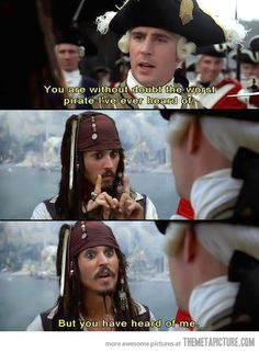 bit of witty banter from Captain Jack