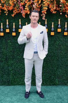 Actor Luke Evans attends The Tenth Annual Veuve Clicquot Polo Classic at Liberty State Park on June 3, 2017 in Jersey City, New Jersey.