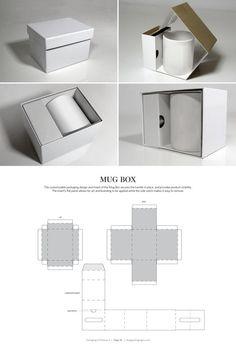 Mug Box – structural packaging design dielines