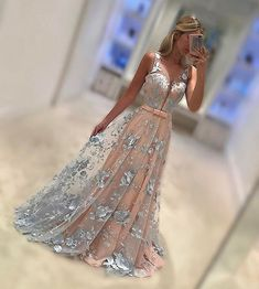 prom dresses long party dresses, cheap evening gowns, elegant deep v-neck prom dresses V Neck Prom Dresses, A Line Prom Dresses, Tulle Prom Dress, Wedding Party Dresses, Prom Party, Formal Wedding, Party Wedding, Bridesmaid Dress, Cheap Evening Gowns