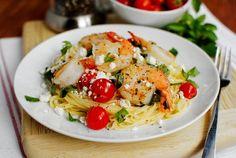 Mediterranean Shrimp Skillet by Iowa Girl Eats