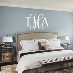 Vines Monogram Mix  vinyl wall decal m016 by back40life on Etsy, $38.00 @Jill Crane