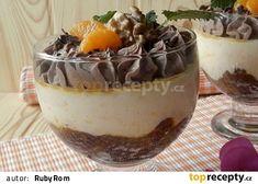 Pohár s mandarinkovým krémem a čokoládou Trifle Recipe, Pudding, Sweets, Chocolate, Baking, Desserts, Recipes, Food, Fotografia