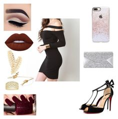 """""""Untitled #148"""" by giovannasancoelho ❤ liked on Polyvore featuring Christian Louboutin, BCBGMAXAZRIA, Lime Crime and Casetify"""