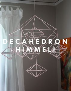 Decahedron Himmeli Mobile