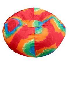 ACE BAYOU Tye Dye Bean Bag Chair - Red Gamer Game Games squishy fluffy and yummy #AceBayou