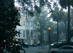 Savannah Historic District - Early Morning Fog, photo by Dick Bjornseth