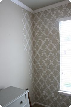 stenciled wallpaper