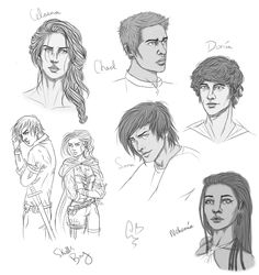 Throne Of Glass Sketchdump by Zombie-Sasquatch.deviantart.com on @deviantART